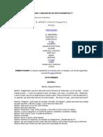 Lectura y Análisis de Un Texto Dramático 7º
