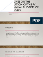 Guidelines on the Preparation of the Fy 2019
