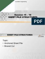 4. Sheet Pile Wall