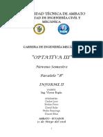INFORME  DE  SOLDADURA