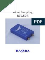 Blue Direct Sampling RTL.sdr ManualsX