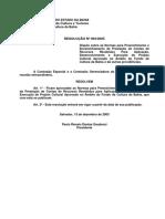RESOLUÇÃO Nº 003_2005 (Prestação de Contas)