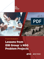 A Review of IDB Groups Non Sovereign Guaranteed Problem Projects