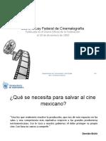 Sobre Ley Cinematografia