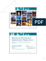 Zoning and subdivision