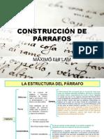 CONSTRUCCIÓN DE PÁRRAFOS