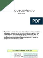 PÁRRAFO POR PÁRRAFO