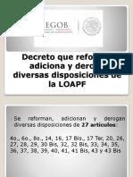 Reforma LOAPF