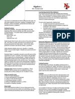 fall 2019 - algebra 1 syllabus - dombrowski