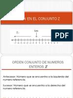 Orden en El Conjunto Z