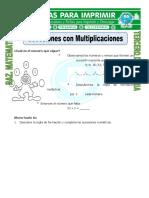 Ficha Sucesiones Con Multiplicaciones Para Tercero de Primaria