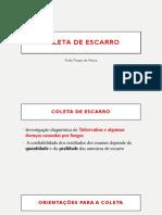 Coleta de Escarro e Secreção Orofaringe