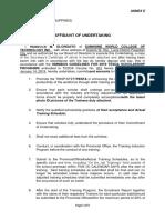 Annex E Affidavit of Undertaking (PESFA)