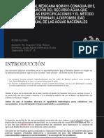 Norma Oficial Mexicana Nom-011-Conagua-2015, Conservación Del Recurso