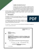 Ejemplo de Iniciativa de Ley