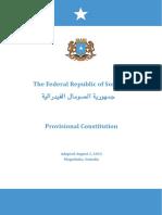 Somalia Provisional Constitution 2012