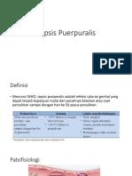 Sepsis Puerpuralis