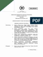 PP Nomor 32 Tahun 2019 Rencana Tata Ruang Laut- Batang Tubuh