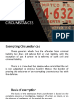 Exempting Circumstances