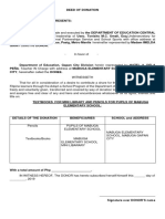 Deed of Donationation & Deed of Acceptance Central Office