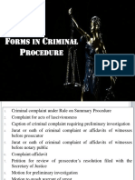 Forms in Criminal Procedure