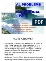 Clinical Problems in Acute Abdominal Pain