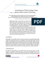 Material Characterization of Thin Coatings Using High Frequency Eddy Current Technology