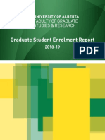 2018 2019 Fgsr Graduate Annual Report University of Alberta