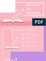 Motion to Dismiss Ppt