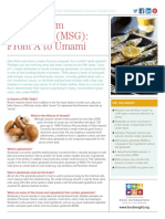 Monosodium Glutamate MSG Fact Sheet