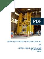 Subsea Engineering Training Report