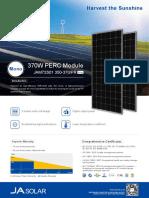 Datasheet JA Solar 350w-370w Mono