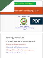 Lecture 22D MR Imaging