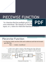 Piecewise Evaluation of Function Exercises (1)