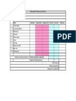 10 Estimated Project Cost Sheet Format