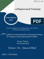 Proceedings EGCI-2018 Francophone