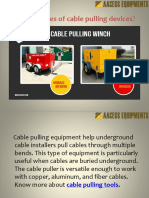 Cable Pulling Tips | Aacess Equipments