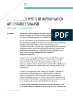The 5 Myths of Improvisation