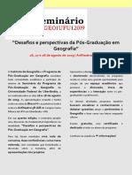 SEMINÁRIO PPGEO Programação Final Atualizada