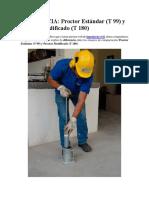 Analisis Basico Del Ensayo Proctor Standar y Modificado