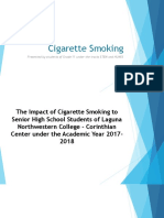 Draft 3. Cigarette Smoking Ppt Presentation 1
