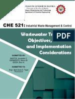 WW Treatment Objectives, Methods & Implementation