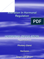 Alteration in Hormonal Regulation