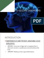 Management of Seizure Disorder