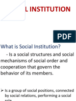 Lesson 2 Social Institution