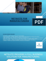 Netsuite ERP for Manufacturing
