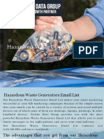 Hazardous Waste Disposal Email List in USA