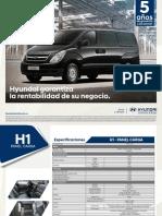 Ficha Tecnica Van Panel H1 Hyundai Autokoreana Bogota Medellin 2019