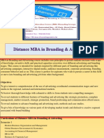 Distance MBA in Branding & Advertising