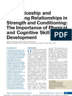 MAGNUSEN, M. J. and PETERSEN, J. (2012) Apprenticeship and Mentoring Relationships in Strength and Conditioning the Importance of Physical and Cognitive Skill Development. Strength & Conditioning Journal, 34 (4), p. 67-72